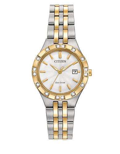 Citizen Diamond Collection Analog Two-Tone Bracelet Watch-NO COLOR-One Size