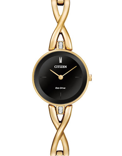 Citizen Analog Silhouette Bangle Goldtone Stainless Steel Watch-GOLD-One Size