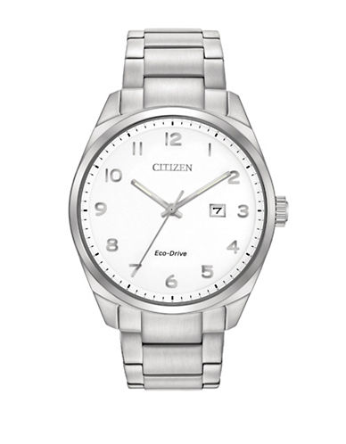 Citizen Analog Dress Stainless Steel Watch-SILVER-One Size