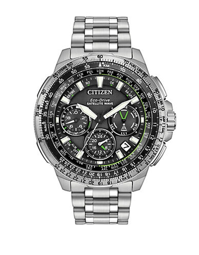 Citizen Satellite GPS Promaster Navihawk Silvertone Stainless Steel Watch-SILVER-One Size