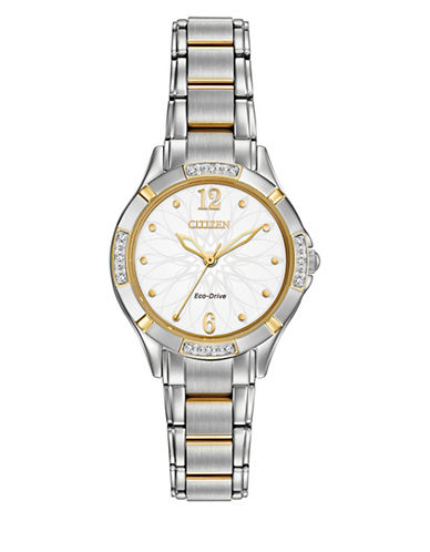 Citizen Quartz Diamond Collection Two-Tone Bracelet Watch with 0.36 TCW Diamonds-BEIGE-One Size