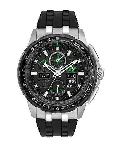 Citizen Chronograph Skyhawk A-T Black Strap Watch-BLACK-One Size