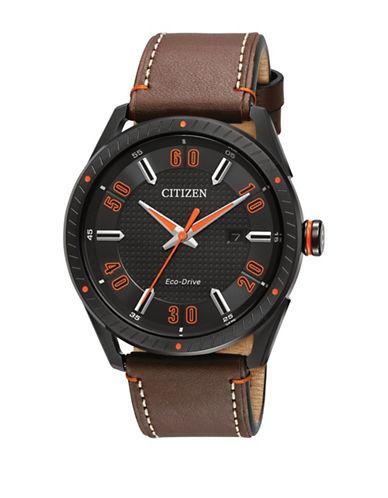 Citizen Drive Quartz CTO Leather Watch-BROWN-One Size