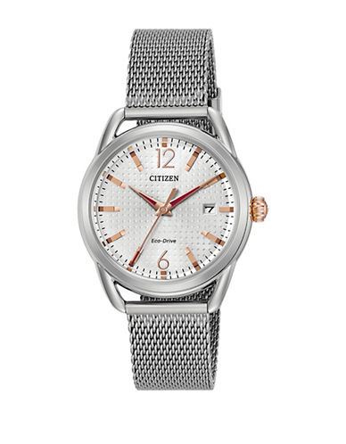 Citizen Drive Long Term Relationship Silvertone Watch-SILVER-One Size