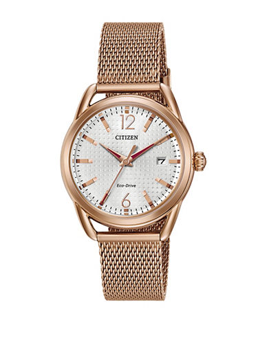 Citizen Drive Long Term Relationship Rose Goldtone Watch-PINK-One Size