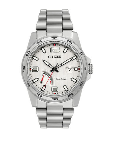 Citizen PRT Stainless Steel Link Bracelet Watch-SILVER-One Size