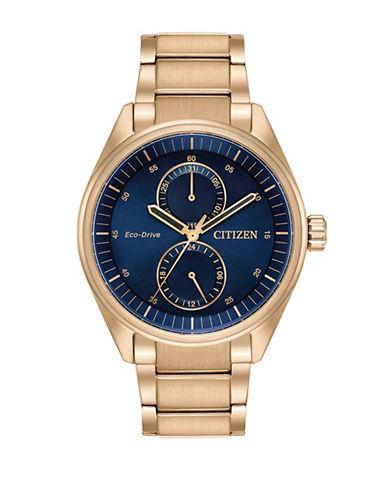 Citizen Eco-Drive Rose-Goldtone Bracelet Watch-GOLD-One Size
