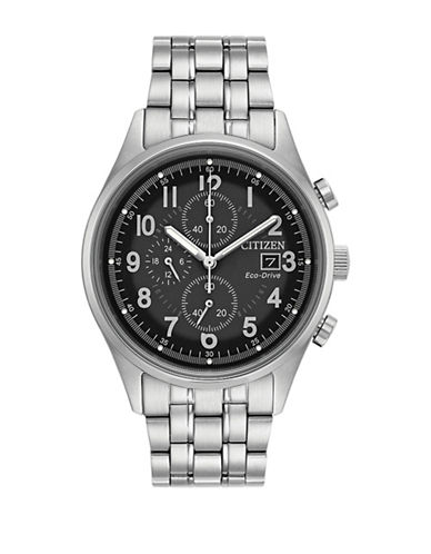 Citizen Chronograph Sport Stainless Steel Bracelet Watch-SILVER-One Size