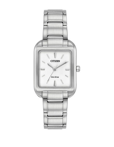 Citizen Chandler Stainless Steel Link Bracelet Watch-SILVER-One Size