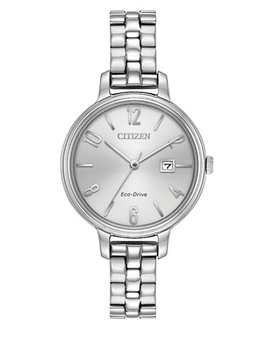 Citizen Analog Silhouette Stainless Steel Bracelet Watch-SILVER-One Size