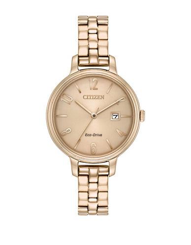 Citizen Chandler Rose Goldtone Stainless Steel Link Bracelet Watch-ROSE GOLD-One Size