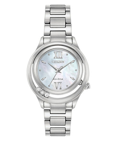 Citizen Analog Sunrise Stainless Steel Bracelet Watch-SILVER-One Size