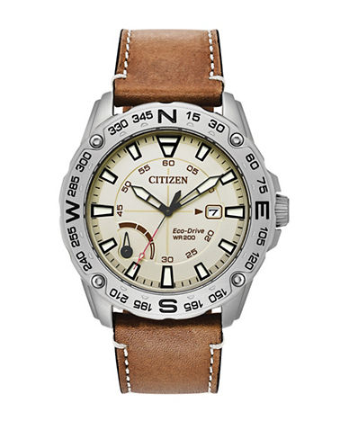 Citizen PTR AW7040-021A Analog Watch-BROWN-One Size