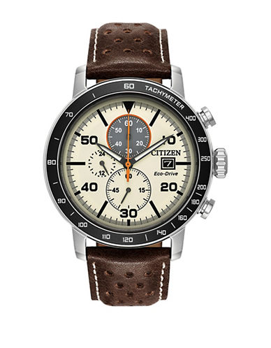 Citizen Brycen Chronograph CA0649-06X Strap Watch-BROWN-One Size