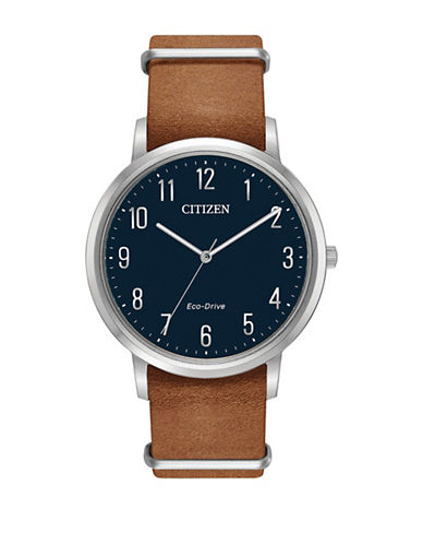 Citizen Chandler Bj6500-12L Caramel Leather Watch-BROWN-One Size
