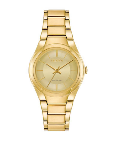 Citizen Analog Goldtone Link Bracelet Watch-GOLD-One Size