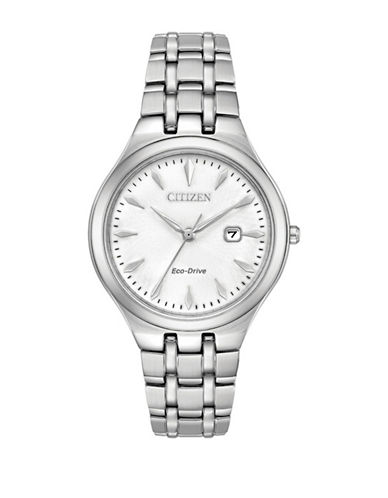 Citizen Corso Stainless Steel Link Bracelet Watch-SILVER-One Size