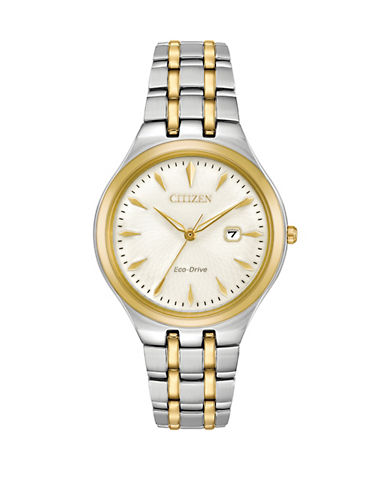Citizen Corso Two-Tone Stainless Steel Link Bracelet Watch-TWO-TONE-One Size