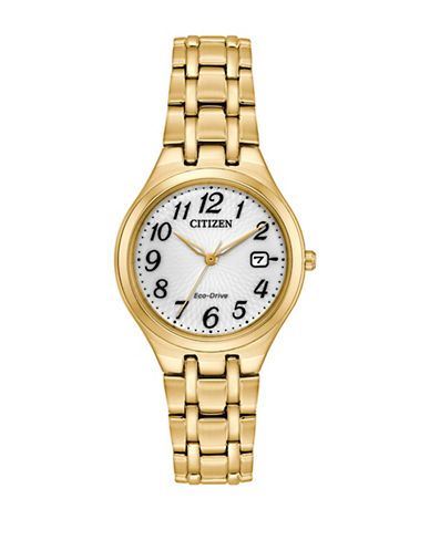 Citizen Corso Goldtone Stainless Steel Link Bracelet Watch-GOLD-One Size