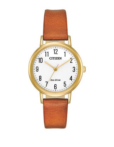 Citizen Chandler EM0572-05A Strap Watch-BROWN-One Size