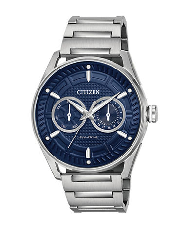 Citizen Drive BU4020-52L Check This Out Stainless Steel Bracelet Watch-SILVER-One Size
