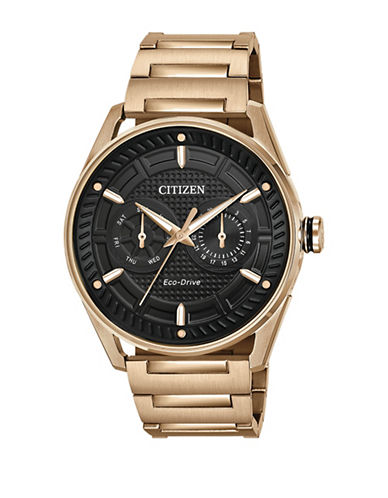 Citizen Drive Check This Out Rose Goldtone Stainless Steel Bracelet Watch-ROSE GOLD-One Size