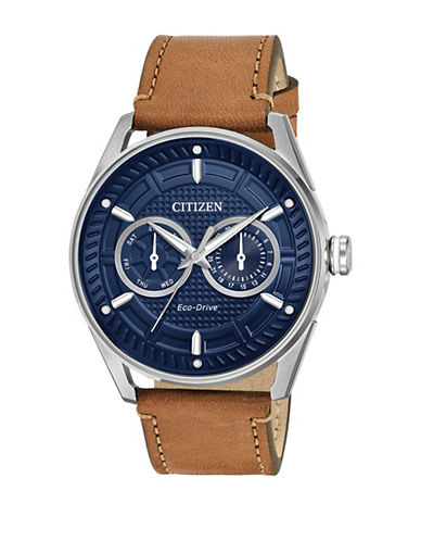 Citizen Drive Check This Out Brown Leather Strap BU4020-01L Watch-BROWN-One Size