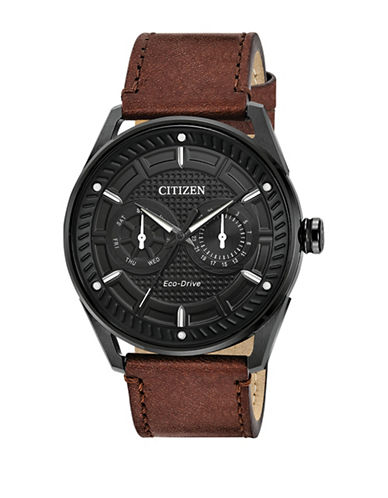 Citizen Drive BU4025-08E Check This Out Stainless Steel Bracelet Watch-BROWN-One Size