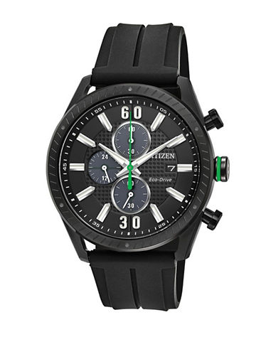 Citizen Drive Check This Out Black Polyurethane Strap CA0665-00E Watch-BLACK-One Size