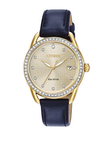 Citizen Drive Long Term Relationship Blue Leather Strap FE6112-09P Watch-BLUE-One Size