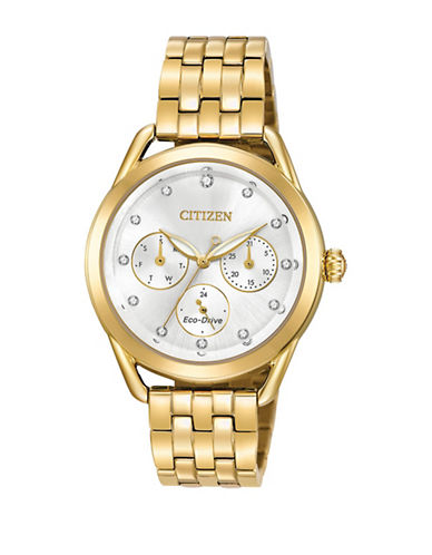 Citizen Drive Long Term Relationship Goldtone FD2052-58A Watch-GOLD-One Size
