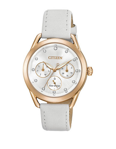 Citizen Drive Long Term Relationship Twotone Leather Strap FD2053-04A Watch-MULTI-One Size