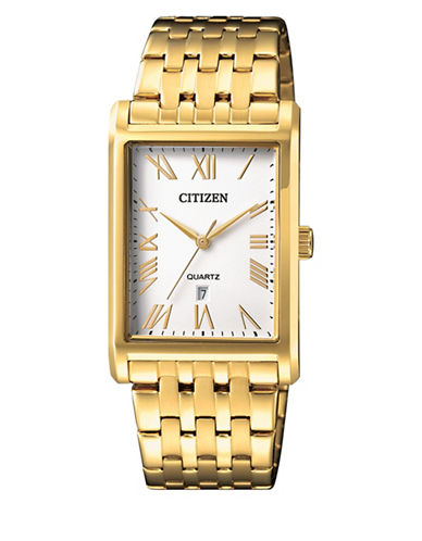 Citizen Quartz BH3002-54A Stainless Steel Bracelet Watch-GOLD-One Size