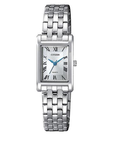 Citizen Quartz EJ6120-54A Stainless Steel Bracelet Watch-SILVER-One Size