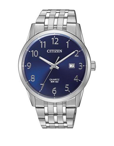 Citizen Quartz BI5000-52L Stainless Steel Bracelet Watch-SILVER-One Size