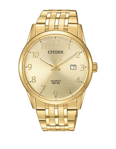 Citizen Quartz BI5002-57Q Stainless Steel Bracelet Watch-GOLD-One Size
