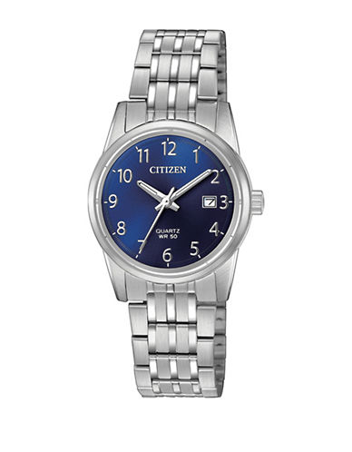 Citizen Quartz EU6000-57L Stainless Steel Bracelet Watch-SILVER-One Size