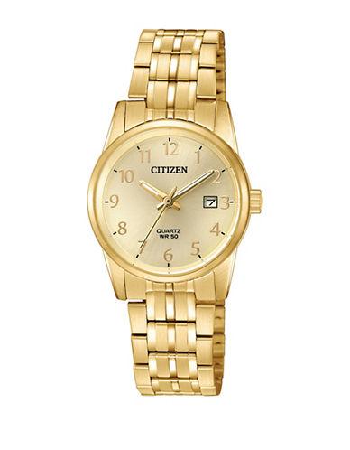 Citizen Quartz EU6002-51Q Stainless Steel Bracelet Watch-GOLD-One Size