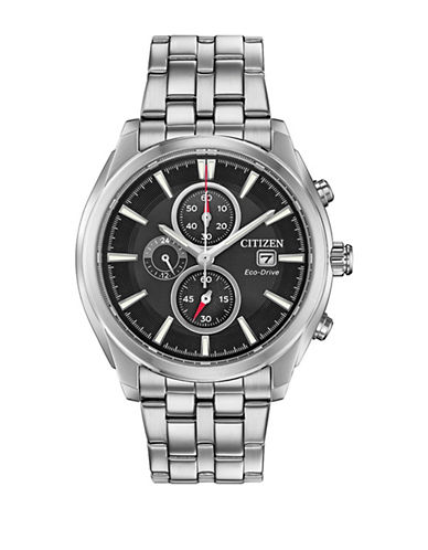 Citizen Stainless Steel Sport Chronograph CA0670-51E Watch-SILVER-One Size