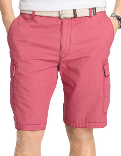 Izod Cargo Shorts-RED-34