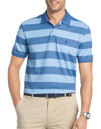 Izod Classic Fit Stripe Knit Polo-BLUE-Medium 88943282_BLUE_Medium