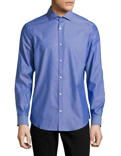 Calvin Klein Geometric Pattern Sport Shirt-BLUE-Small