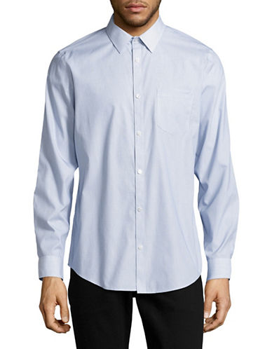 Calvin Klein Geometric Pattern Sport Shirt-WHITE-Medium
