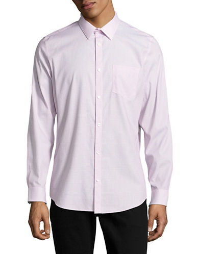 Calvin Klein Geometric Pattern Sport Shirt-PINK-Medium