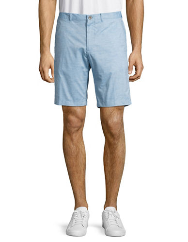 Calvin Klein Slim-Fit Cotton Slub Shorts-BLUE-40