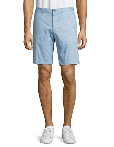 Calvin Klein Slim-Fit Cotton Slub Shorts-BLUE-38