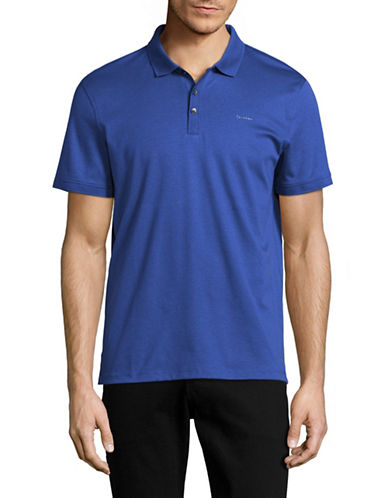 Calvin Klein Liquid Cotton Polo-MEDIUM BLUE-Medium 89003044_MEDIUM BLUE_Medium