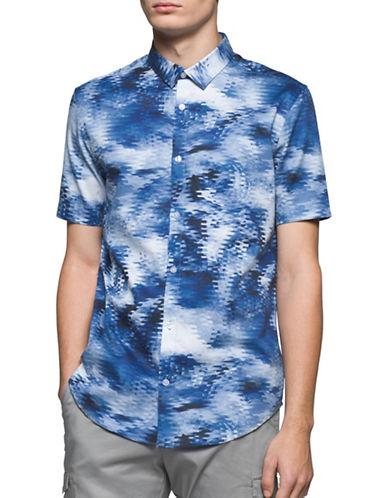 Calvin Klein Slub Knit Jacket-BLUE-Large