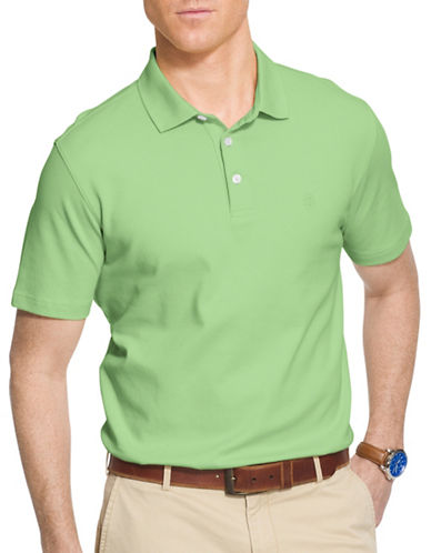 Izod Solid Interlock Polo-GREEN-Large