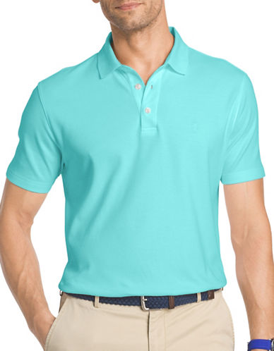 Izod Solid Interlock Polo-LIGHT BLUE-Medium